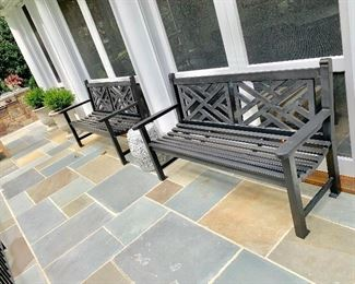 Smith and  Hawken metal benches