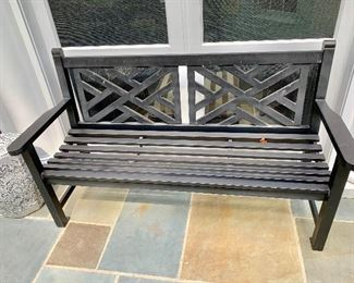 Smith and Hawken metal bench