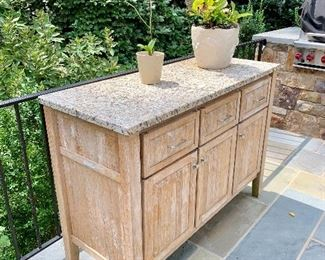 Country Casuals marble top cabinet