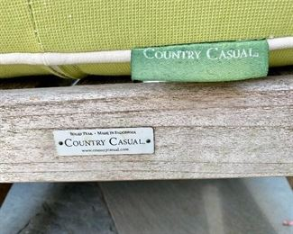 Country Casuals teak furniture