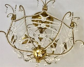 Vintage flush mount light fixture