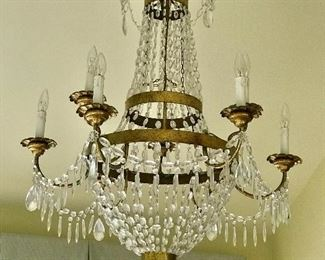 The Federalist Crystal and metal two tier 9 light chandelier (LCC-1)