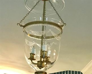 The Federalist Bell Jar Lantern with etched leaves and starts LL-101A