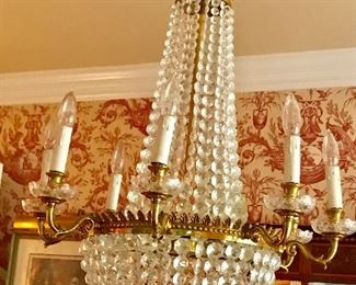 The Federalist Crystal and cast brass chandelier LCC-4
