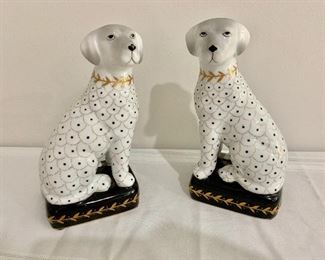 Jeanne Reed's Porcelain Dog book ends