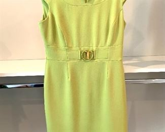 Tahari sleeveless dress with buckle; Shoes are 9.5-10 Clothes range from S-L. Most 8/10 and M/L