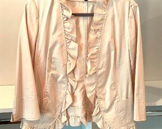 Talbots ruffled jacket; Shoes are 9.5-10 Clothes range from S-L. Most 8/10 and M/L