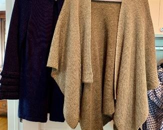 Sweaters from J. McLaughlin and others; Shoes are 9.5-10 Clothes range from S-L. Most 8/10 and M/L