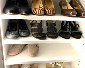 Tory Burch, Stuart Weitzman, Tods, Michael Kors, Cole Haan, Coach and others; Shoes are 9.5-10 Clothes range from S-L. Most 8/10 and M/L
