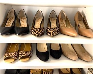 Sam Edelman shoes and others; Shoes are 9.5-10 Clothes range from S-L. Most 8/10 and M/L