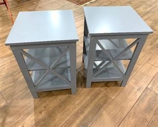 Gray side tables