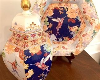 Limited edition Spode ginger jar and plate