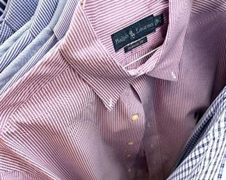 Men's shirts - Ralph Lauren, Vineyard Vines, Brooks Borthers and others