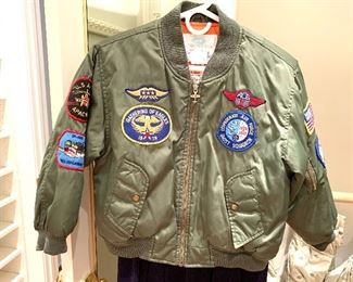 Child's size flight jacket