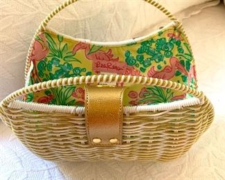 Lilly Pulitzer straw bag.