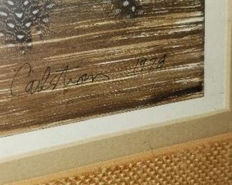 Close-up of Artist Signature Lucinda Carlstrom