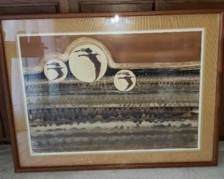 Vintage Framed Mixed Media Art by Lucinda Carlstrom