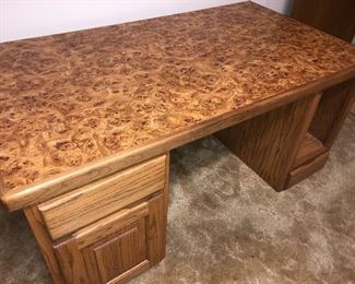Burled walnut desk