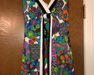 Groovy 60s halter top dress