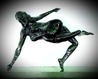 Mid-Century free-form figural bronze sculpture,  unsigned