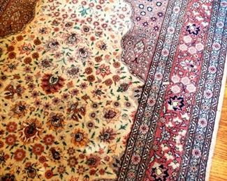 hand- knotted wool carpet