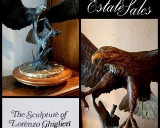 NOT a Ghiglieri!!!! it's a Frank Colburn bronze eagle, 1989 1 in a series of 76