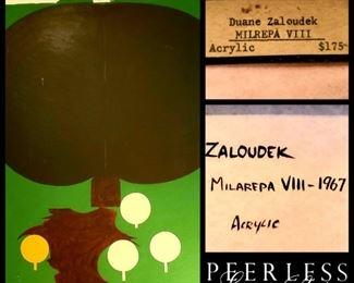listed mid-century artist Duane Zaloudek