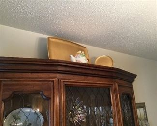 Decor on top of china cabinet