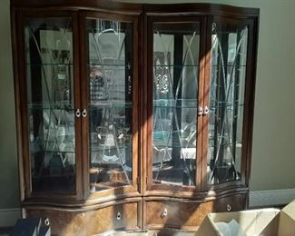 Fabulous pair of Thomasville Curio Cabinets. Sold Separately.