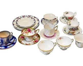 5. Collection of Vintage Tea Cups Saucers