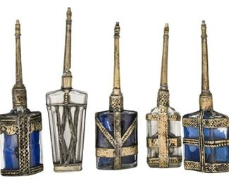 1. Indian Glass and Metal Perfume Bottles