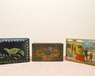 4. Lot of Three 3 Decorative Tins