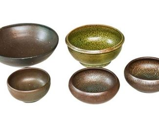 11. Nice Collection of Five 5 Artisan Pottery Bowls