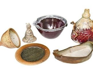 14. Mixed Lot Artisan Pottery Collection wBowls Dishes