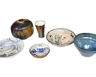 16. Mixed Lot Artisan Pottery Pieces wAbstract Modern Designs