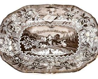 27. Antique Ceramic Victorian Bread Plate