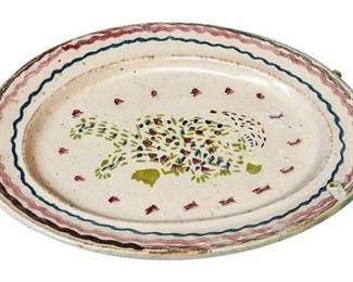 29. Antique Ceramic Hand Painted Decorative Plate
