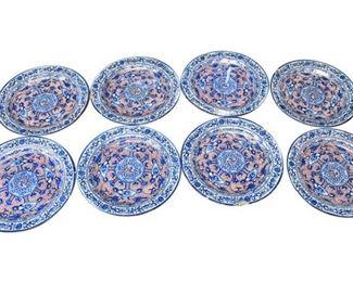 34. Set of Eight 8 Antique Ceramic Decorative Plates