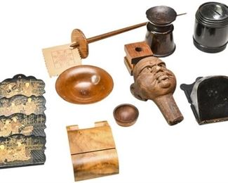 39. Mixed Collection Vintage Wooden Collectibles Accents