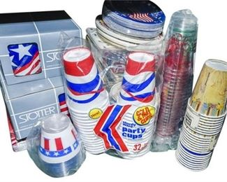 46. Assorted Disposable Dining Items