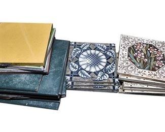 48. Mixed Lot Vintage Ceramic Decorative Wall Tiles