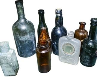 47. Collection of Vintage and Antique Glass Bottles