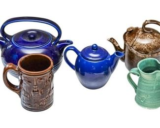 54. Collection of Decorative Teapots and Pitcher