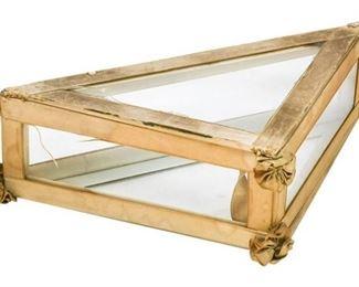 56. Antique Glass Paneled Vanity Box