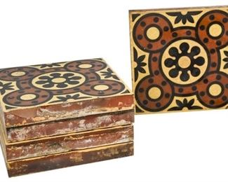 61. Set of 5 Painted Tiles
