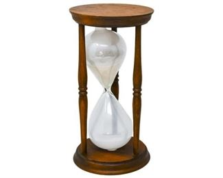 65. Hourglass in Wood Holder