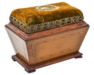 68. Sewing Box with a Pincushion Top