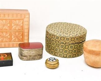 80. Collection Small Decorative Trinket Boxes