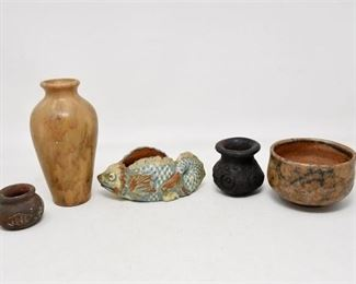 86. Grouping of Decorative Vessels