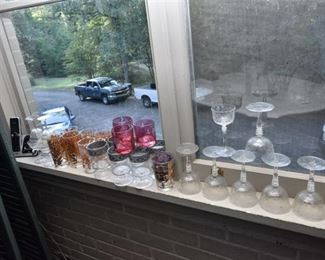 92. Collection of Vintage Glassware